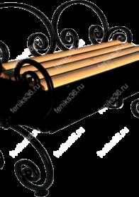 Волна 20 со спинкой и ящиком