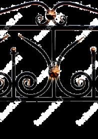 купить ограду на могилу Юпитер с навершием