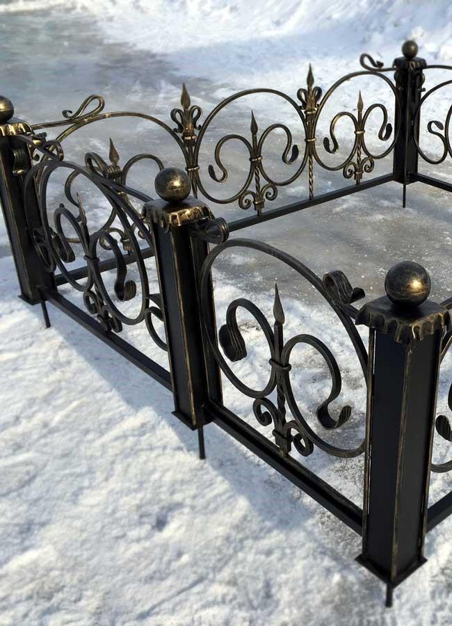 ограда на могилу производство