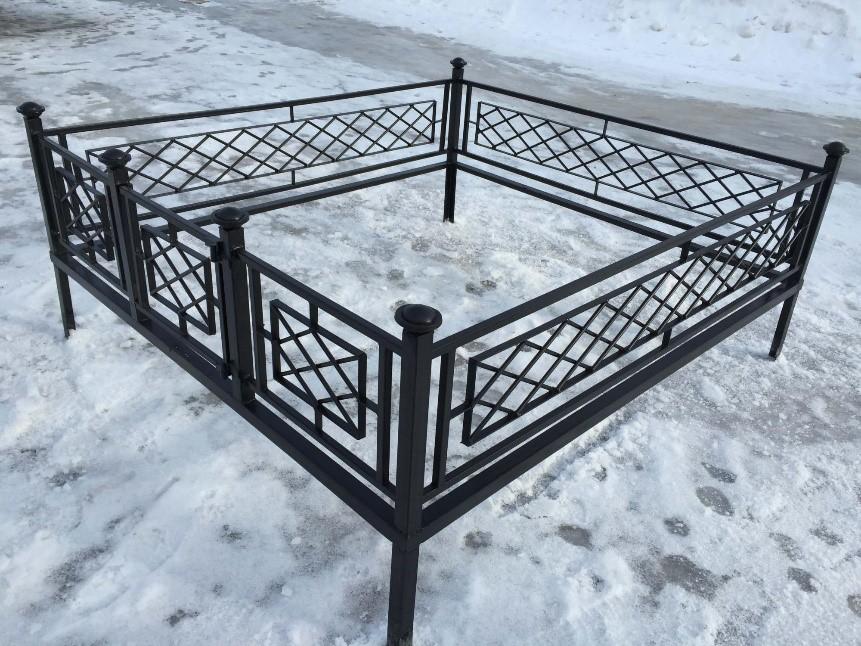 ограда на могилу металлическая