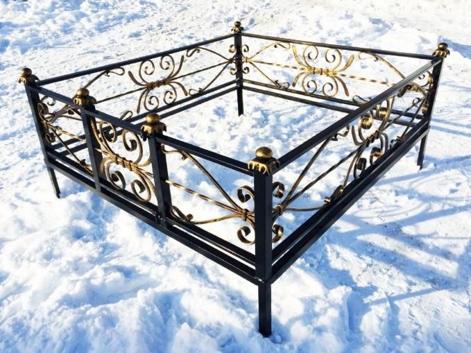 ограда на могилу изготовление